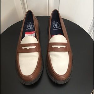 New Cole Haan Brown/Cream Loafers
